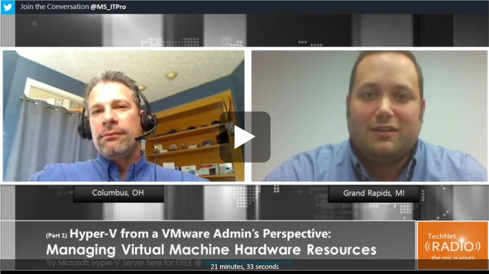 Hyper-V from a VMware Admin's Perspective – Managing Virtual Machine Hardware Resources