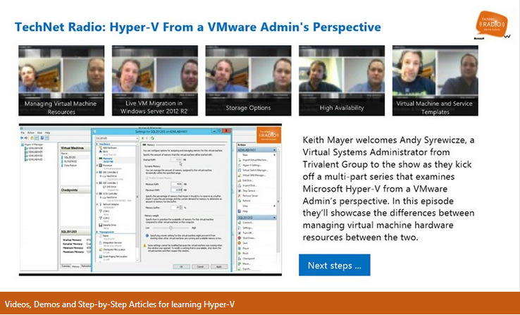 Hyper-V from a VMware Admin's Perspective – Watch it Now with the New Windows Store App!